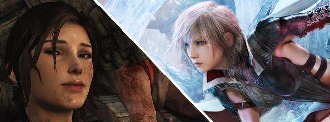 Zwei starke Frauen beherrschen die Gamer-Charts Traumstarts für Lara Croft und Lightning
