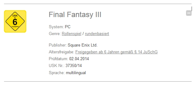 Final Fantasy III demnächst für PC-2