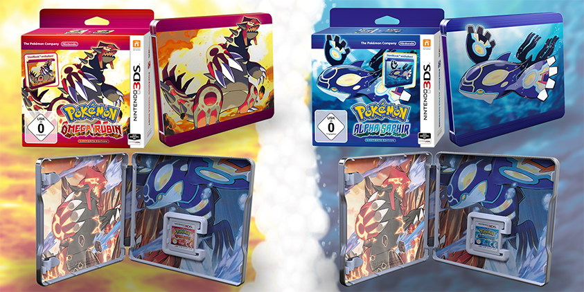 Pokémon Omega Rubin und Alpha Saphir bekommen eine Steelbook-Edition