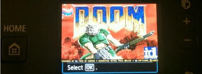 Doom auf einen Canon Drucker