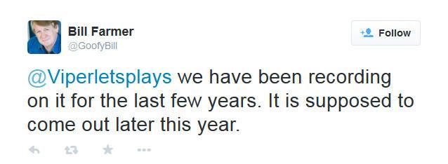 Kingdom Hearts III noch dieses Jahr - Tweet Bill Farmer