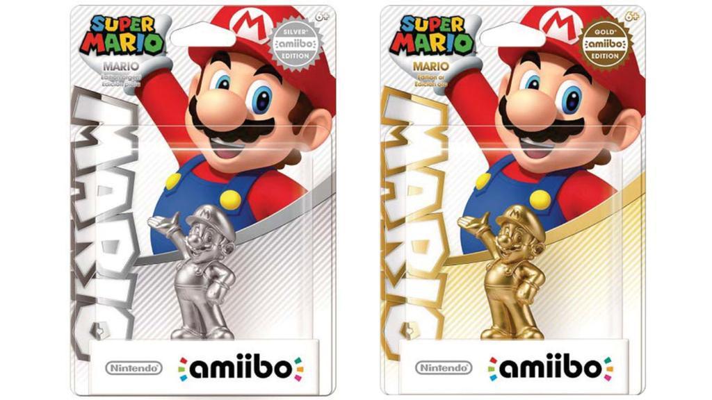 Silberne und golende Amiibo Editionen