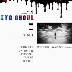 [AR] - Tokyo Ghoul Volume 1 - DVD-Menü02