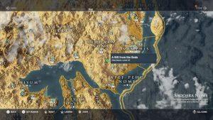 Karte Assassin´s Creed Origins. Quelle: Ubisoft