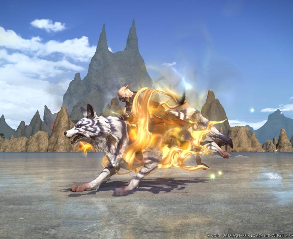 Der Wolf Kamuy sieht nicht nur am Boden toll aus. Quelle Square Enix