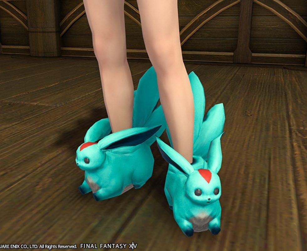 Smaragd-Karfunkel-Pantoffeln Quelle: Final Fantasy XIV ©Square Enix