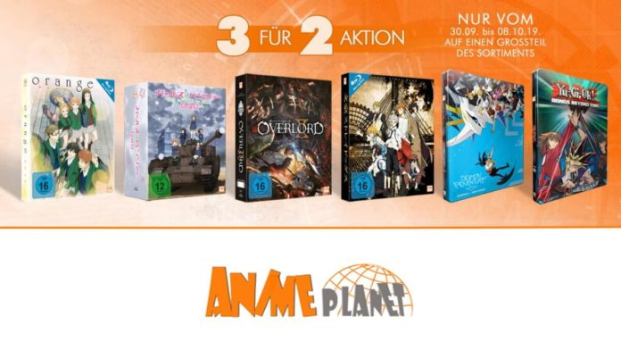 Große 3 für 2-Aktion bei Anime Planet