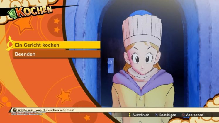 Review DragonballZ Kakarot - Bild07 Kochen