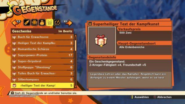 Review DragonballZ Kakarot - Bild31 Geschenke1