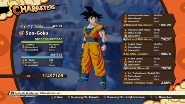 Review DragonballZ Kakarot - Bild33 GokuChar