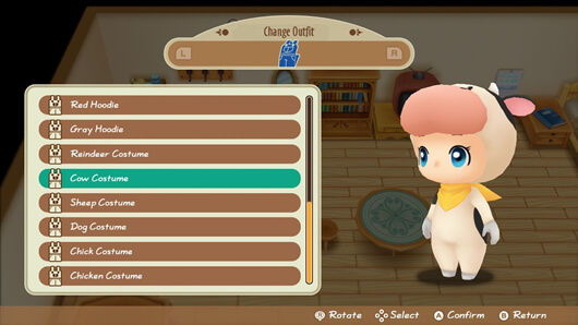 Story of Seasons Friends of Mineral Town ab heute erhältlich - Kuh Outfit