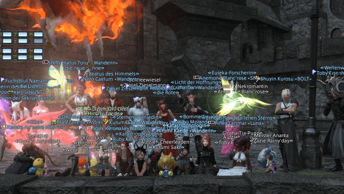 Final Fantasy XIV: Screenshot der Teilnehmer