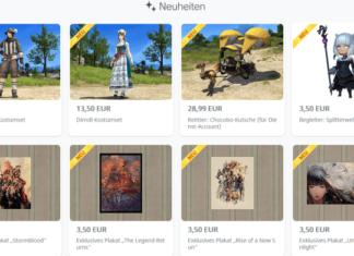 Final Fantasy XIV: Neue Gegenstände im Online-Store