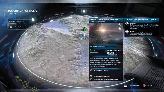 Missionsauswahl via HARM
