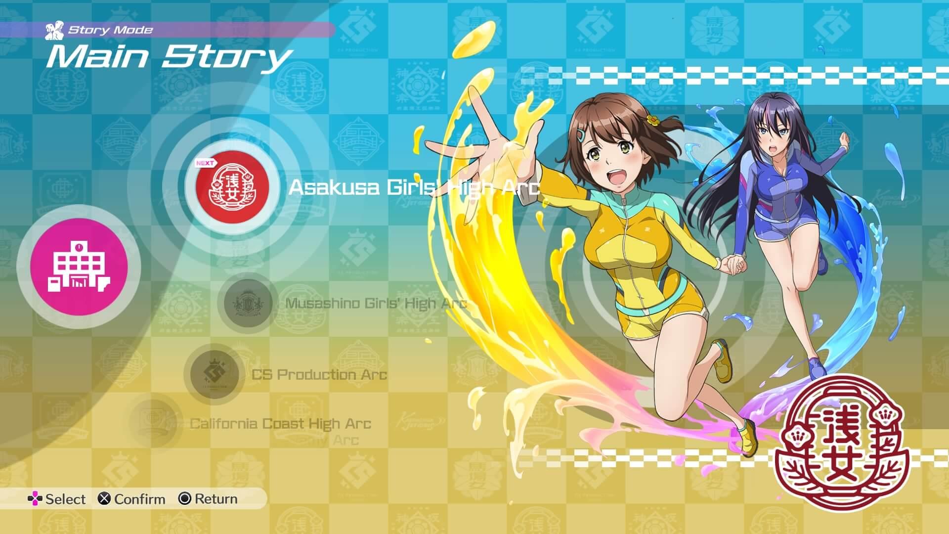 Review: Kandgawa Jet Girls für PlayStation 4 - Das Menü