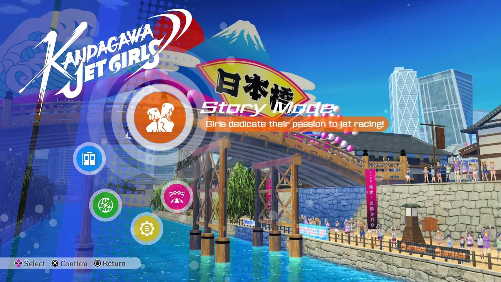 Review: Kandgawa Jet Girls für PlayStation 4 - Das Hauptmenü