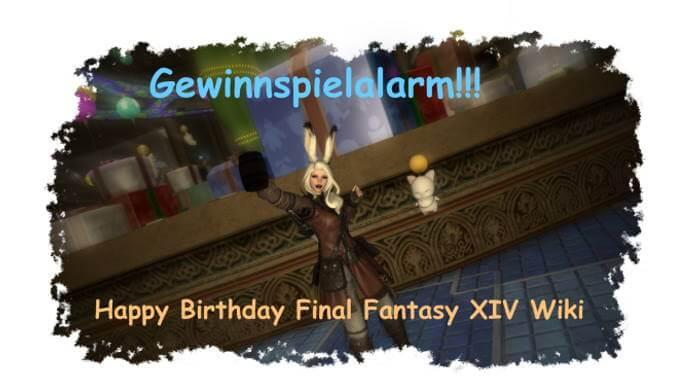 Gewinnspiel: Acht Jahre Final Fantasy XIV Wiki