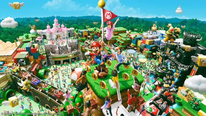 Super Nintendo World in Japan öffnet seine Pforten - Blick von Mount Beanpole