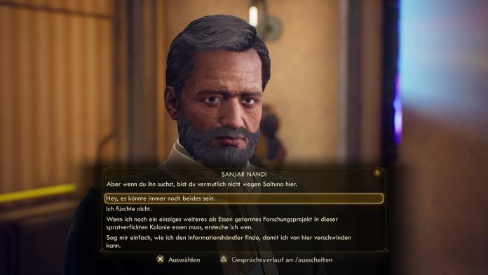 [GR]The Outer Worlds Screenshot - vulgäre Dialogoption