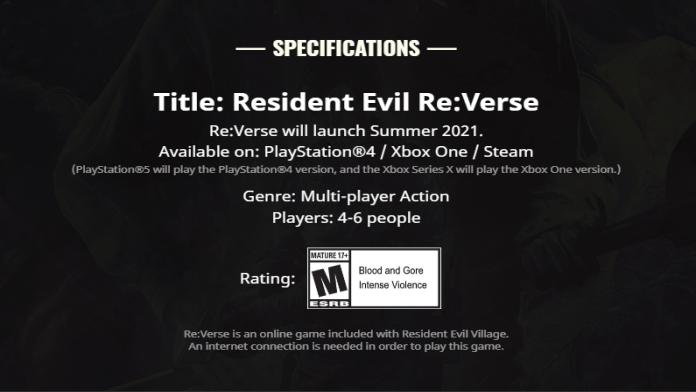 Resident Evil RE Verse auf Sommer verschoben - Info auf Website