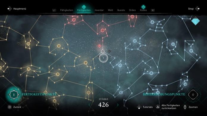 Review Assassin's Creed Valhalla für PlayStation 4 - Fähigkeiten